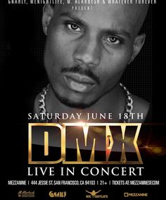 We r bringing @dmx baaaack!!! Last year he put on one of the best sold out concerts in SF ask anybody who was there lol For everybody that missed it and whoever wants to witness greatness again! TIX at MezzanineSF.com @wenightlife #notimeoff lol #dmx #ruffryders #hiphop #sf #concert #live by pvolfovski