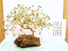 Magnesite Bonsai Gem Tree, Large Wire Tree, Wire Wrapped Tree Sculpture, Jewel Tree, Christmas Gifts, Gifts for Her, Gifts for Him by SpiritGemDesigns on Etsy