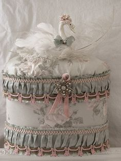 sweet whimsy - a decorated hatbox that Marie would love