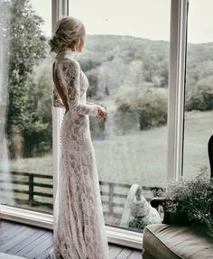 Country Mermaid Wedding Dresses High Neck Lace Backless Long Sleeve Sweep Train Bridal Gowns Plus Size Robe De Mariée from Babybridal is part of Ruffle wedding dress If you want custom made color a - Boho Wedding Dress With Sleeves, Long Sleeve Wedding, Long Wedding Dresses, Dresses With Sleeves, Dress Wedding, Dress Lace, Long Dresses, Tulle Wedding, Dresses Dresses