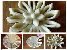 Pattern for Mathri folding Bread Recipes, Cooking Recipes, Pastry Design, Bread Shaping, Bread Art, Braided Bread, Pastry Art, Bread And Pastries, Food Decoration