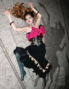 Vogue Japan, July 2011 - Spaghetti Western Lindsey Wixson - Model Terry Richardson - Photographer George Cortina - Fashion Editor/Stylist Recine - Hair Stylist Frank B - Makeup Artist