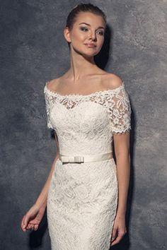 5b960e24c558 Svadobné šaty pre dámy s úzkymi ramenami a malými prsiami Šaty