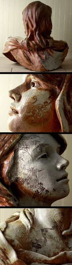 Beautiful hand sculpted bust