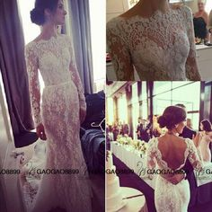Elie Saab Backless Wedding Dresses 2016 Amazing Detailing Illusion Long Sleeve Lace Wedding Dress Steven Khalil Transparent Bateau Scallop Halter Neck Wedding Dresses Halter Top Wedding Dresses From Gaogao8899, $174.87| Dhgate.Com