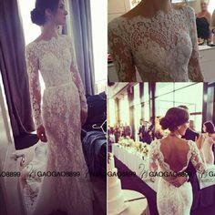 Elie Saab Backless Wedding Dresses 2016 Amazing Detailing Illusion Long Sleeve Lace Wedding Dress Steven Khalil Transparent Bateau Scallop Halter Neck Wedding Dresses Halter Top Wedding Dresses From Gaogao8899, $174.87| Dhgate.Com