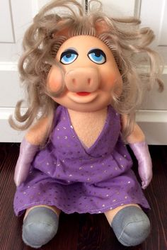 1980 Miss Piggy Plush Doll By Fisher Price by Lalecreations on Etsy