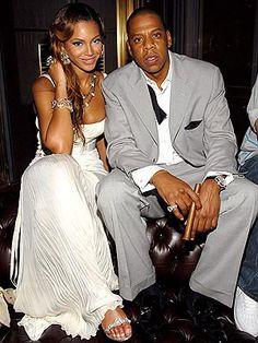 Jay-Z & Beyonce wedding photo.