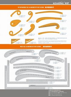 6460B French Curves Ruler drawing template