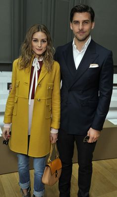 Olivia Palermo and Johannes Huebl arrive at the Chloé Fall-Winter 2015 show space