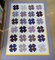 African Violet Quilt Block Directions