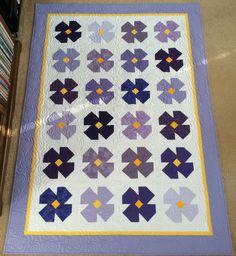 African Violet Quilt Block Directions