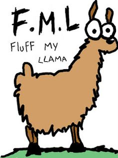 Fluff My Llama!! :-) for @Janette Wilkes