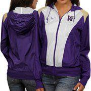 Nike Washington Huskies Ladies White-Purple Sprint Full Zip Hoodie Jacket