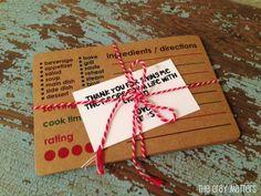 Teacher Thank You Gift: Recipe for Life