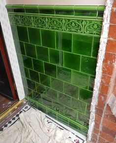 Best Pics victorian Fireplace Remodel Suggestions Victorian Ceramics Classic Reproduction Tiles from William Morris, Willian De Morgan and Philip Web Victorian Hallway, Victorian Front Doors, Victorian Porch, Victorian Terrace House, Edwardian House, Victorian Bathroom, Victorian Urinals, Victorian Fireplace Tiles, Victorian Front Garden