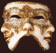 creepy multi face sheet music mask inspire