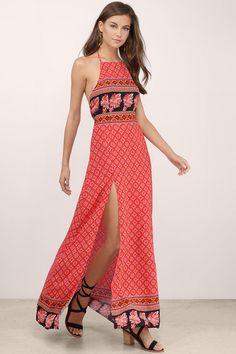 New Arrivals, Multi Spice Market Halter Maxi Dress Simple Summer Dresses, Trendy Dresses, Club Dresses, Sexy Dresses, Maxi Dress With Slit, Halter Maxi Dresses, Trending Outfits, Spice, Clothes