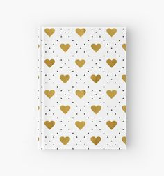 Golden hearts pattern by Alla Rinchino