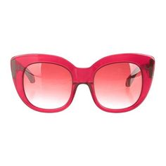 Burgundy resin Zac Posen thick rimmed cat eye sunglasses with silver-tone logo plaque at arms.