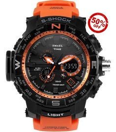 Military Tactical Dual Display Digital Watch - Available in 7 Colors, See them All