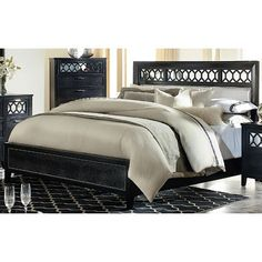 Glamour Black King Bed