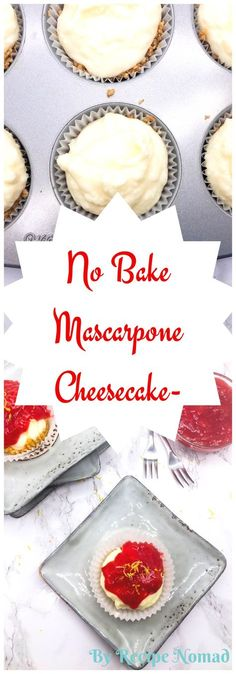 No Bake Mascarpone Cheesecake is simple to make and will definitely satisfy your sweet tooth! http://www.recipenomad.com/no-bake-mascarpone-cheesecake/ No Bake Mascarpone Cheesecake   Recipe Nomad
