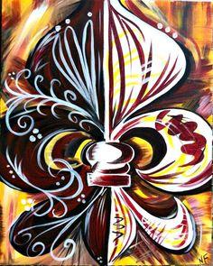 Decorative fleur de lis by BayouStateArt on Etsy, $35.00