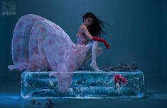 Conceptual Photography, Girl Photography, Yuki Onna, Alia And Varun, Cool Sculpting, Angelababy, Beauty Shoot, Blue Shoes, Drawing Reference