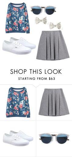 """""""Cute"""" by peacekelli ❤ liked on Polyvore featuring Fall Winter Spring Summer, Vans, Christian Dior, women's clothing, women's fashion, women, female, woman, misses and juniors"""