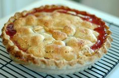 Best Cherry Pie Recipe.  I made this twice this summer.  Substituted vanilla for the almond extract.  Used the cornstarch instead of tapioca.  So good.