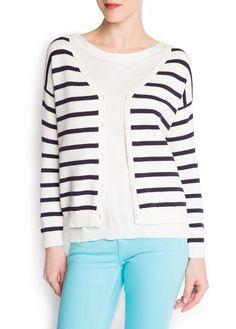 Striped cotton cardigan £12.99