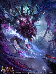 Artist: Zhonglu Zhao aka fireluzhao - Title: Card - Card: Dahaka, Doom Bringer (Anguish)