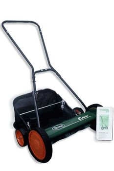 "Scotts Classic reel lawn mower package - 20"" cutting width, 1"" - 3"" heaight range, MADE IN THE USA, Comes with mower, grasscatcher and do-it-yourself sharpening kit."