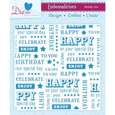 $5.84 - Free Shipping for Prime as Add-On Crafter's Companion EF6-BDTXT Embossalicious Embossing Folder Birthday Text, 6-Inch x 6-Inch Crafter's Companion http://www.amazon.com/dp/B00GBHDDAA/ref=cm_sw_r_pi_dp_bfRFub1GHET33