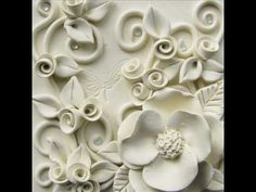 clay flowers on canvas - Google Search