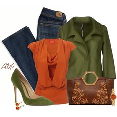 Olive and Orange, created by amy-phelps on Polyvore