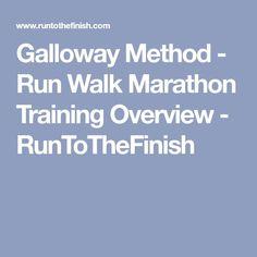 Galloway Method - Run Walk Marathon Training Overview - RunToTheFinish Running Workouts, Running Tips, Fun Workouts, Beginner Running, Trail Running, Galloway Method, Bikini Competition Training, Fitness Tips, Fitness Motivation