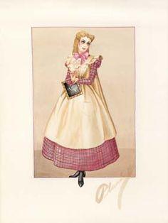 Little Women  Costume for 'Amy' by Walter Plunkett