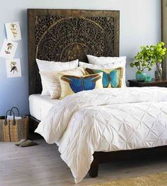GroBartig 15 Cool DIY Headboardsu2014No Drill Required! | Pinterest | Wall Decals, Urban  And Walls