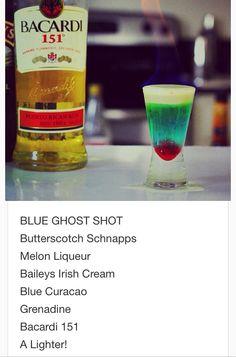 Blue Ghost Shot~ tipsy bartender