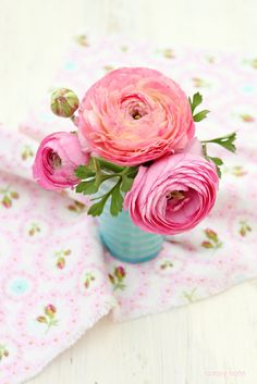 Oh Sunny Day! Ranunculus - A Rosy Note
