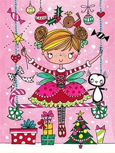 NEW Rachel Ellen Christmas Cards 5 Pack - Ballerina in Home, Furniture & DIY, Celebrations & Occasions, Cards & Stationery   eBay