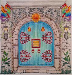 Castle Door--Enchanted Forest--Johanna Basford