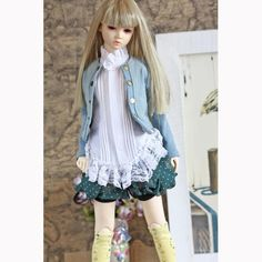 BJD Girl Denim Dress Suit 4pcs 1 3 1 4 SD10 SD13 MSD BJD Doll Dollfie Clothes | eBay