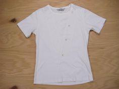 "Neil Barrett White Cotton Slim Button and ""V"" Tee Size XS/S."