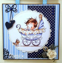 Well I am still on holiday, enjoying the sunshine (hopefully!) We have a brand new challenge over at the Hobby House . New Baby Cards, Mothers Day Cards, Hobby House, Whimsy Stamps, Scrapbooking, Kids Cards, Cute Cards, Homemade Cards, Cardmaking
