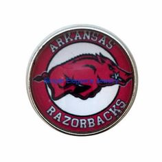 #4035 Arkansas Razorback Snap 20mm