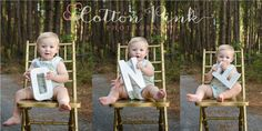 Cute! FIRST Birthday boy posing idea!    Check out more creative work at:  www.facebook.com/cottonpinkphotography  or  www.cottonpinkphotography.com