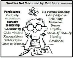 Many desirable qualities are not measured by most tests